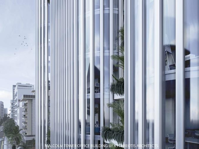 В Никосии возведут 10-этажную офисную башню под названием Malcolm Tower