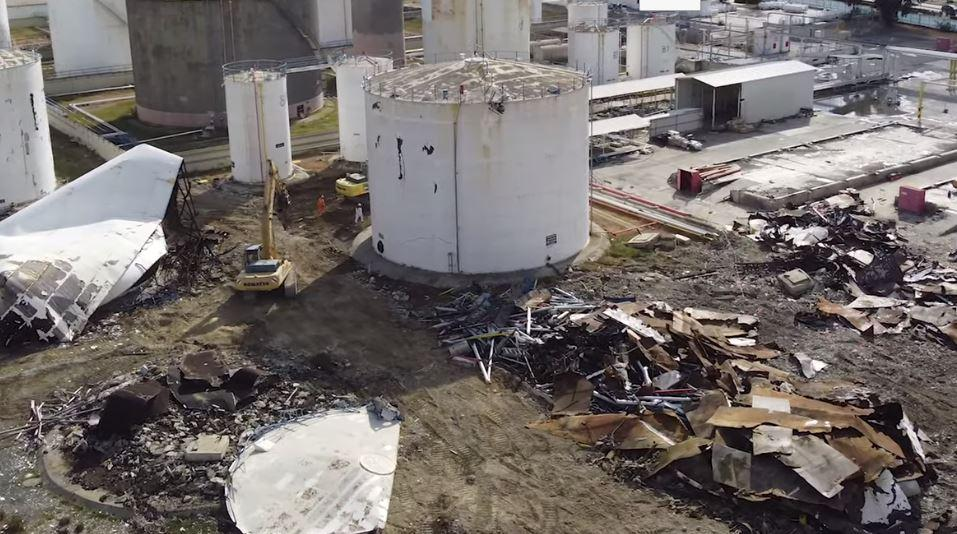 В Ларнаке завершился демонтаж нефтяных резервуаров Hellenic Petroleum